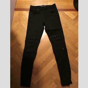 Black Lace High waisted Jeans